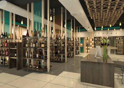 WineZone – Liquor Shop Interior Design